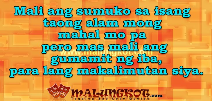 Sad Tagalog Love Quotes