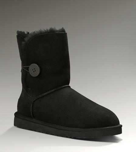 UGG-Bailey-Button-5803-Black-Size-5-6-7-8-9-10