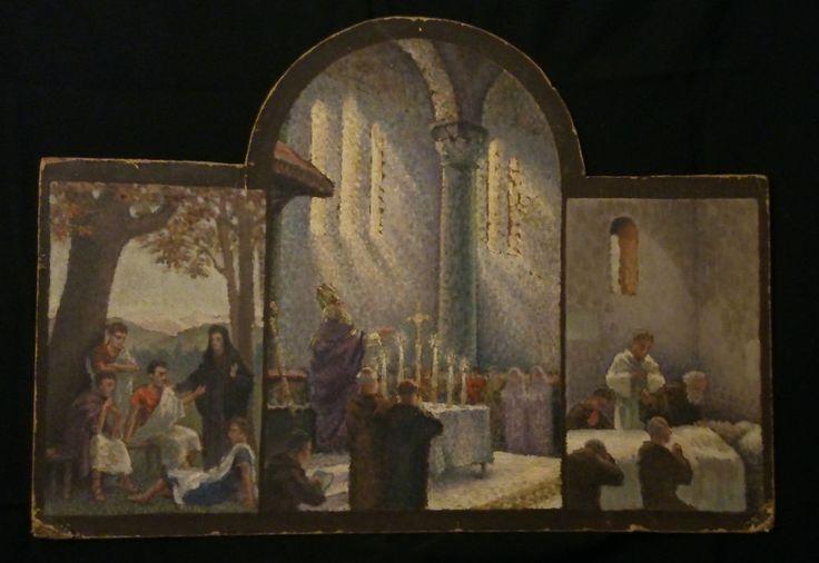 triptyque Religieux Jean-Raoul Chaurand-Naurac 1878-1948? huile/carton AUCTION