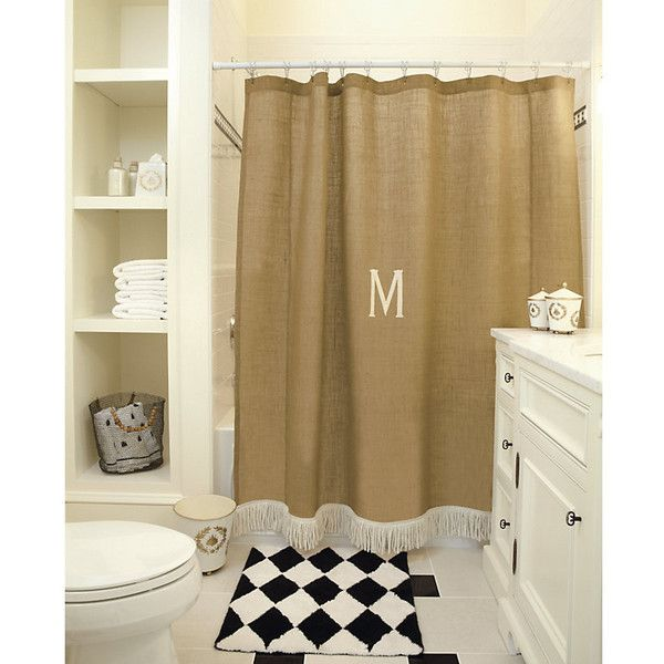 Ballard Designs Burlap Shower Curtain with Bullion Fringe (3.815 RUB) ❤ liked on Polyvore featuring home, bed & bath, bath, shower curtains, personalized shower curtains, waterproof shower curtains, burlap shower curtains, monogrammed shower curtains and ballard designs
