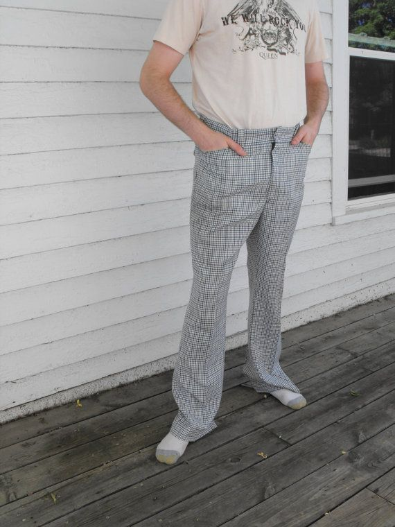 Vintage 70s Mens Plaid Pants Levis Panatela 36 Grandpa by soulrust, $26.99