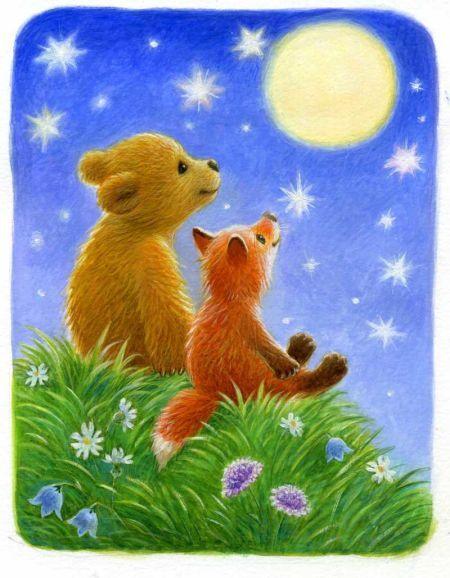 Прекрасная, прикольные картинки медведь с лисой