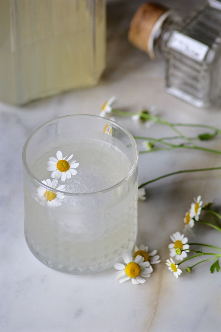 Chamomile-infused gin cocktail