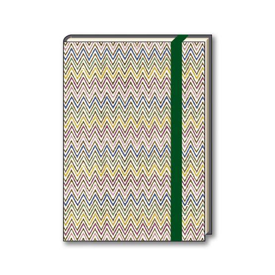 """Diario Tassotti pagine a righe A5 e A6 con elastico in carta """"zig zag multicolore"""" - Tassotti diary lined A5 and A6 with elastic wrapped with """"zig zag multicolor"""" paper"""