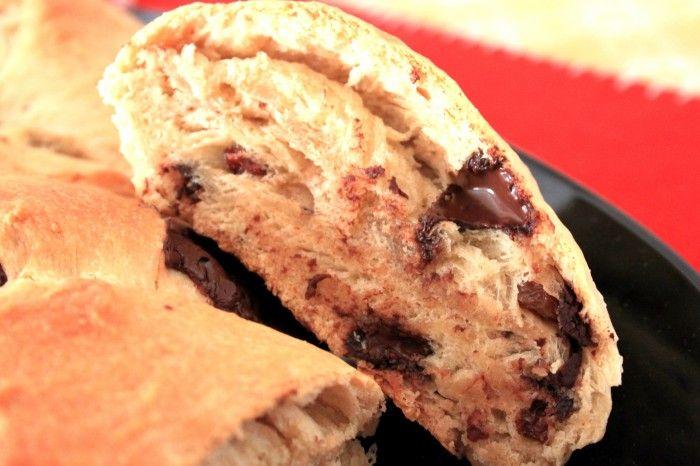Need something to feel great in the morning? Cosa c'è di meglio di una mega brioche al cioccolato?
