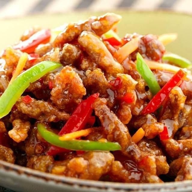 Crispy Shredded Chicken In Sweet Chilly Sauce