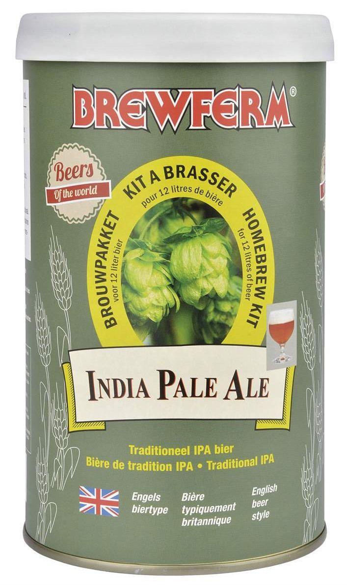 Brewferm IPA 12L  O bere IPA traditionala. Culoare usor aramie, gust puternic, cu note amarui si herbale la final. Densitatea initiala 1065 ABV : 6,5% Pentru 12 litri.