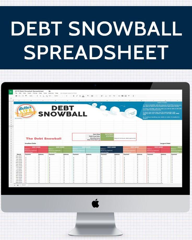 Best  Debt Snowball Spreadsheet Ideas On   Debt