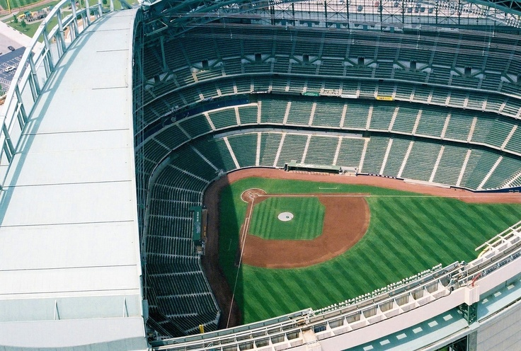 Miller Park, Home of the Milwaukee Brewers. Milwaukee