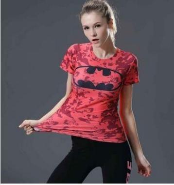 Fashion women's O-Neck T-shirt 3 d printing superman batman slender female