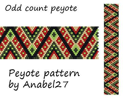 Peyote pattern beadwork peyote bracelet pattern by Anabel27shop
