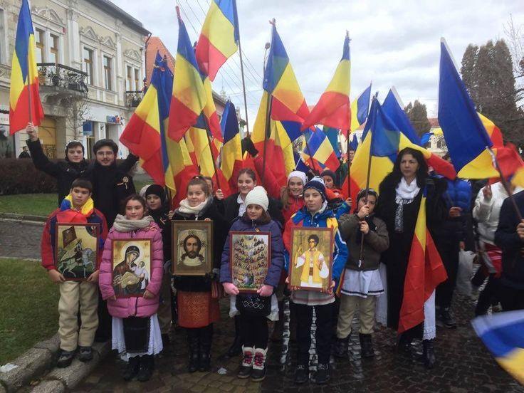 Copiii de la Actiunea Romani pentru Romani - Targu Secuiesc - Ziua Nationala - 1 Decembrie 2015