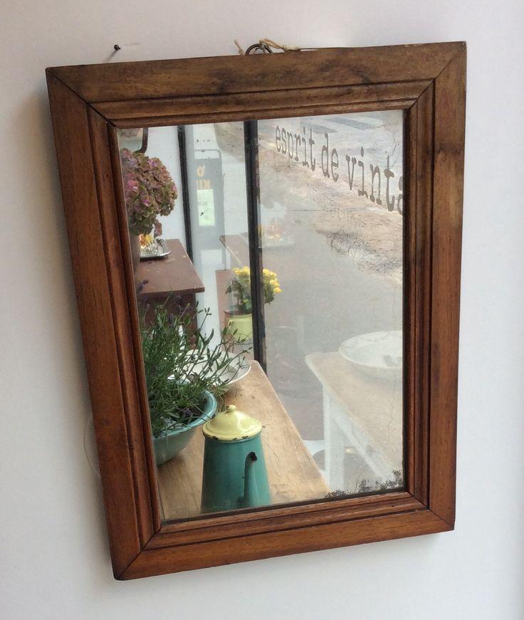 puukehyksinen peili . 34x46cm . @kooPernu