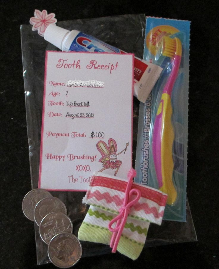 Tooth Fairy visits!   Cute idea for first tooth                                                                                                                                                                                 More