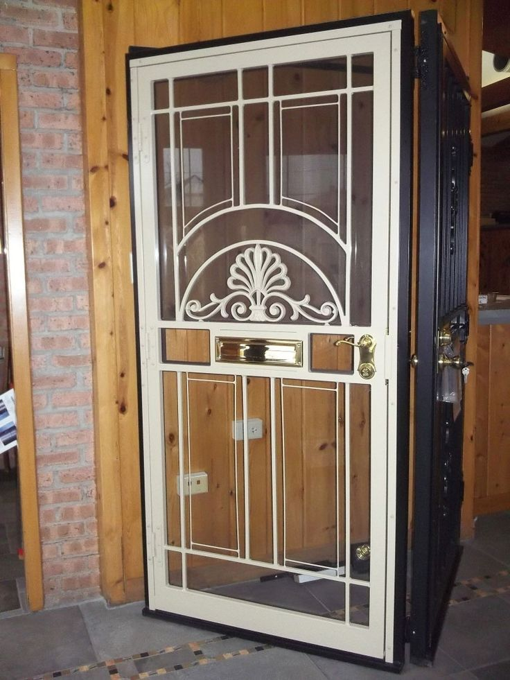 Steel Security Doors With Glass