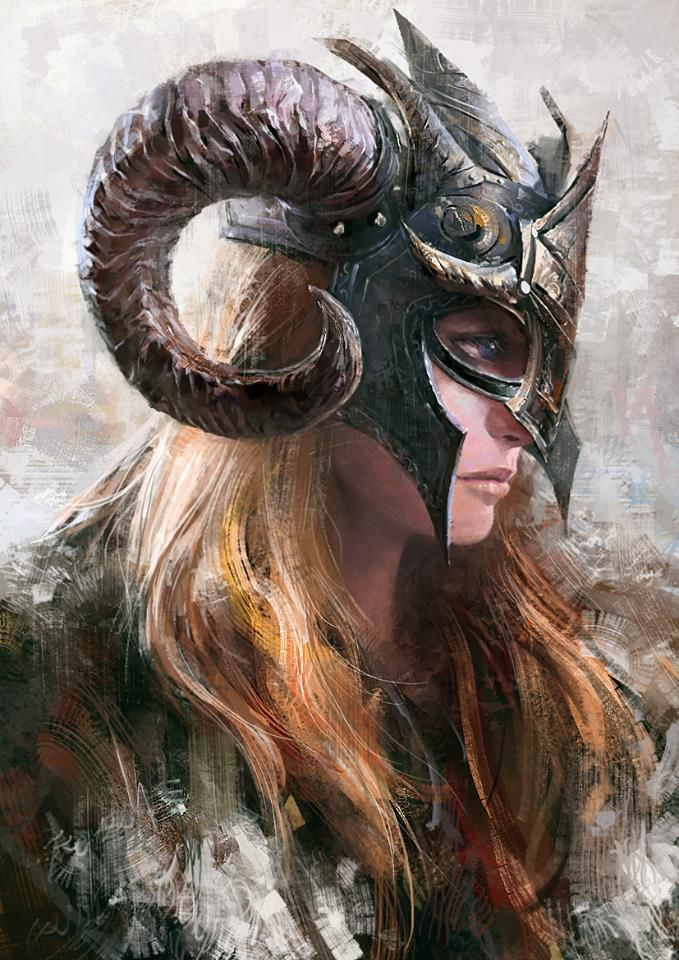 S..s by Kevin Hou Female Viking Warrior