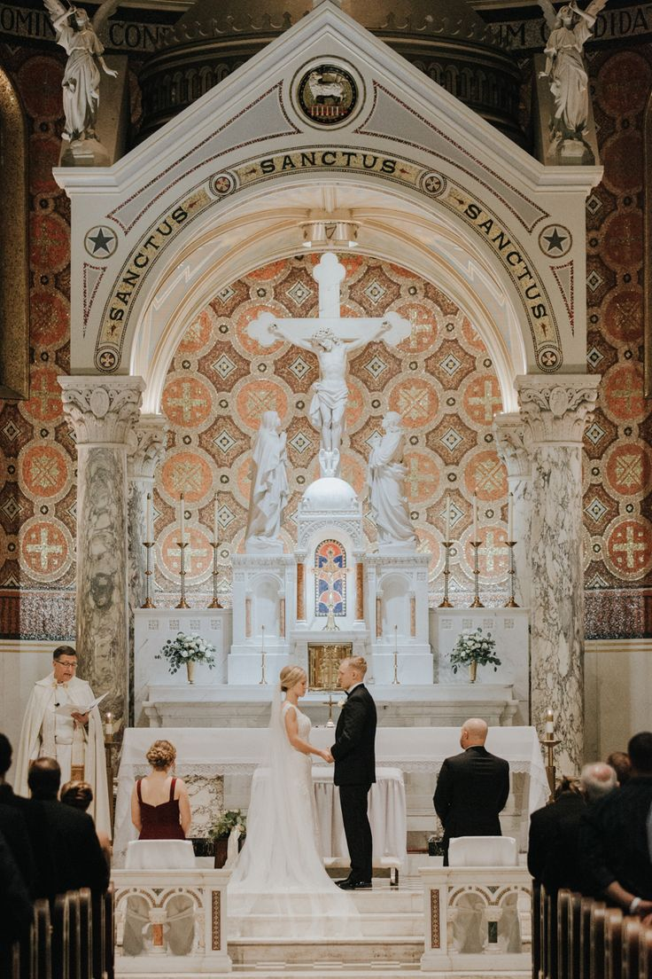 St. Cecilia Catholic Church St. Louis, St. Louis winter wedding