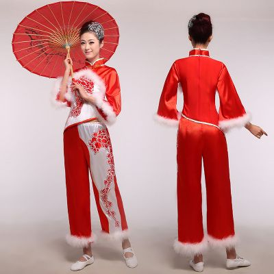 Good day ladies winter clothing clothes dance clothes Younger ethnic costumes dance duet performances