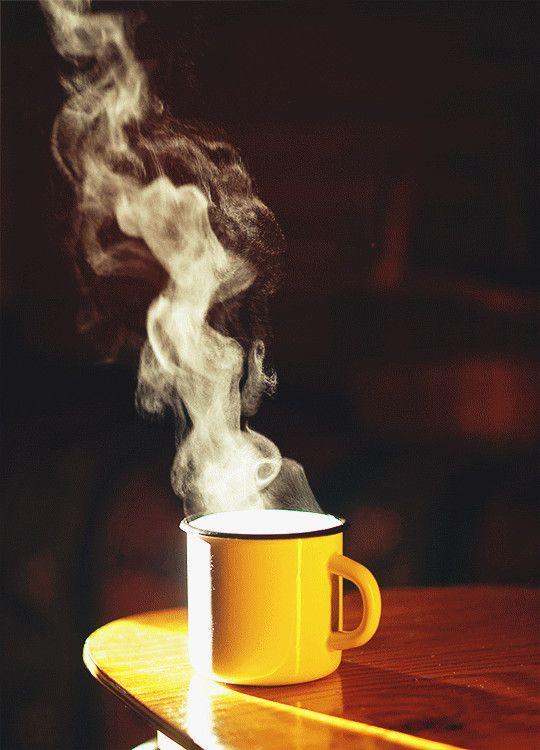 Картинки дымящийся горячий кофе
