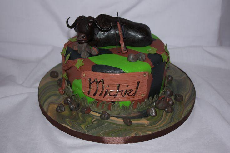 Buffulo Hunting cake - www.suikerbekkie.co.za