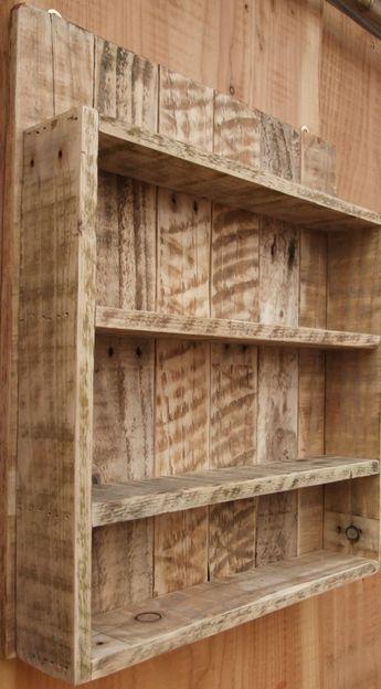 Rustic Spice Rack / Kitchen Shelf / Cabinet by NewPurposeDesign