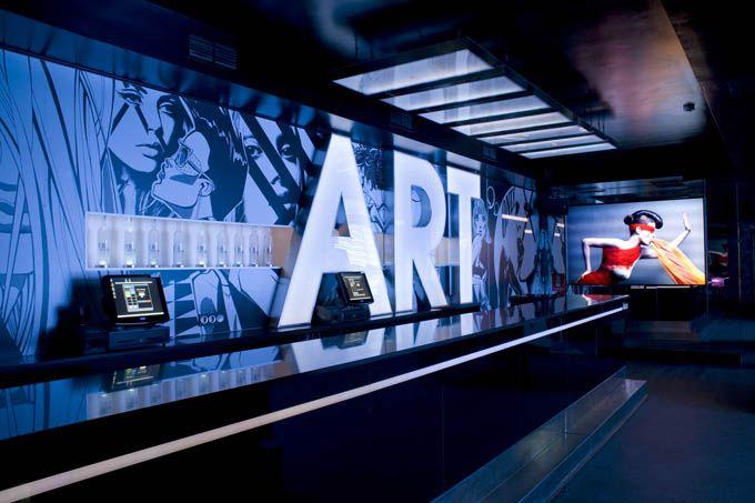 netwrkArt Inspiration, Interiors, Graphics Design, Exhibitions Design, Bar Area, Club Muse, Night Club, Madridclub Musée, Art Wall