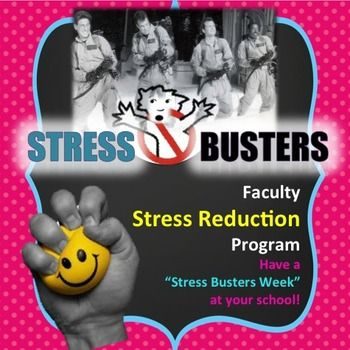 """Counselors """"Stress Busters Week"""" for faculty and staff.  Morale booster.-Includes a Powerpoint-Wall Signs-Tips for a successful """"Stress Busters Week"""" program at your schoolYou may also like:Stress Busters Boot Camp for Students"""