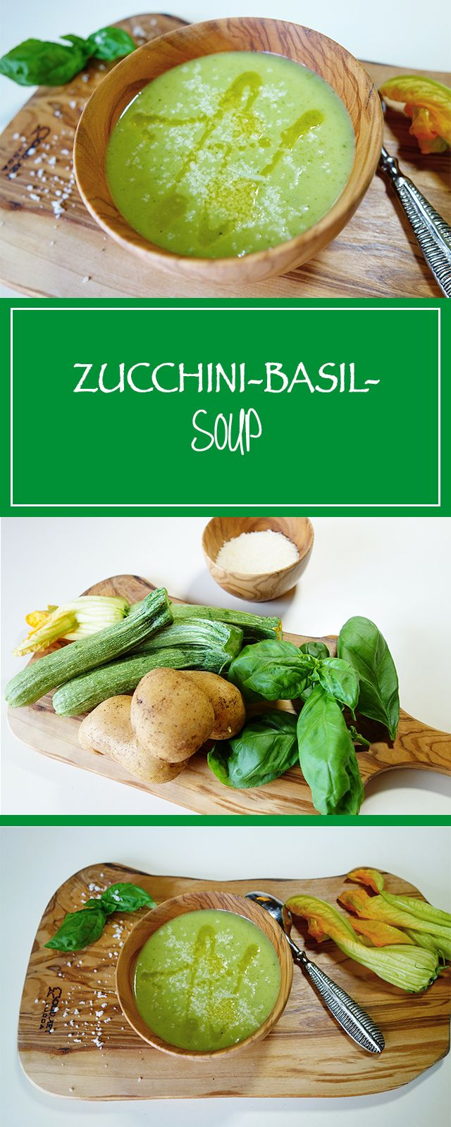 Zucchini-basil-soup - summer & soup are a perfect fit, as also this gluten-free, vegetarian & simple recipe prooves. Delicious! 🌞🍽 | cucina-con-amore.com