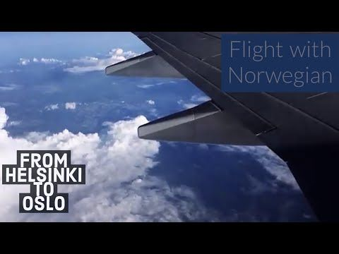 Flight from Helsinki to Oslo (lovely Scandinavian summer) - YouTube