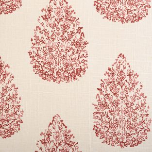 print collection from @John Robshaw Textiles for duralee #fabric #cotton #linen #red