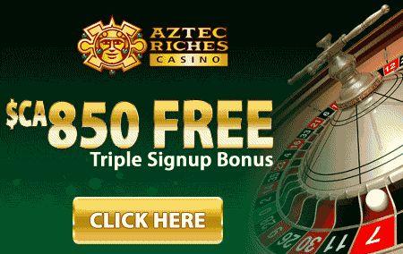 Aztec Riches Casino Triple Signup Bonus