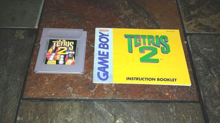Original Gameboy Plays on GBC GBA SP TETRIS 2 + Manual