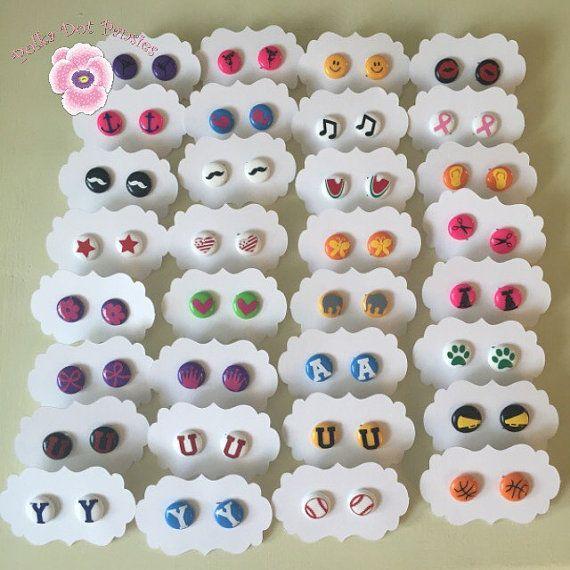 $3 Perler Bead Earrings by PolkaDotPansies on Etsy