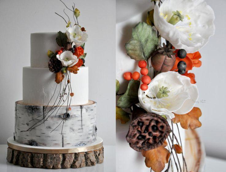 Wedding autumn cake by CakesVIZ - http://cakesdecor.com/cakes/259859-wedding-autumn-cake