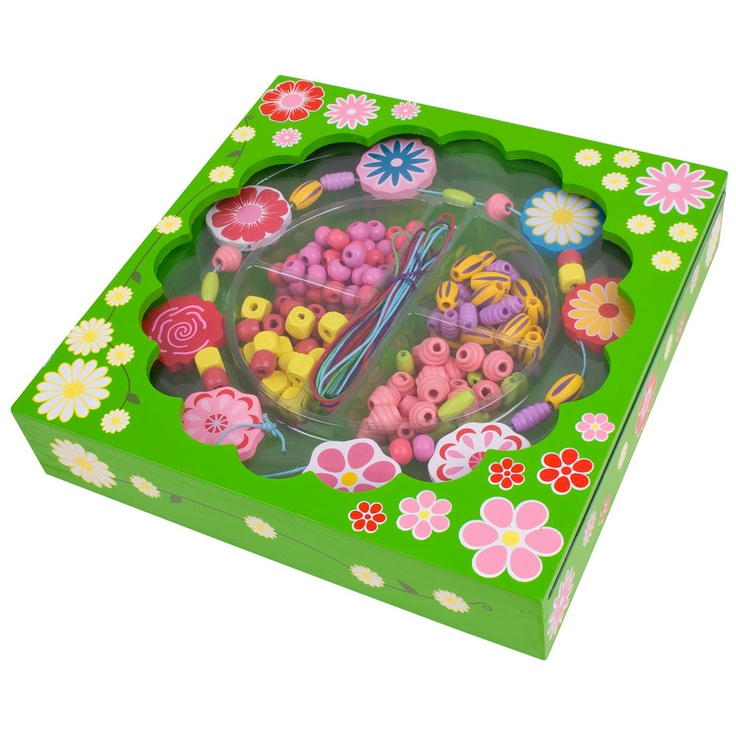 This pretty floral kit is ideal for young designers of 3 years + to create a variety of beautiful jewellery designs using a wide range of different coloured beads, laces and key flower pieces. The sweet little box also doubles up as a trinket box to keep the completed jewellery in after creation! The perfect present for creative youngsters to develop their imagination and jewellery making skills.