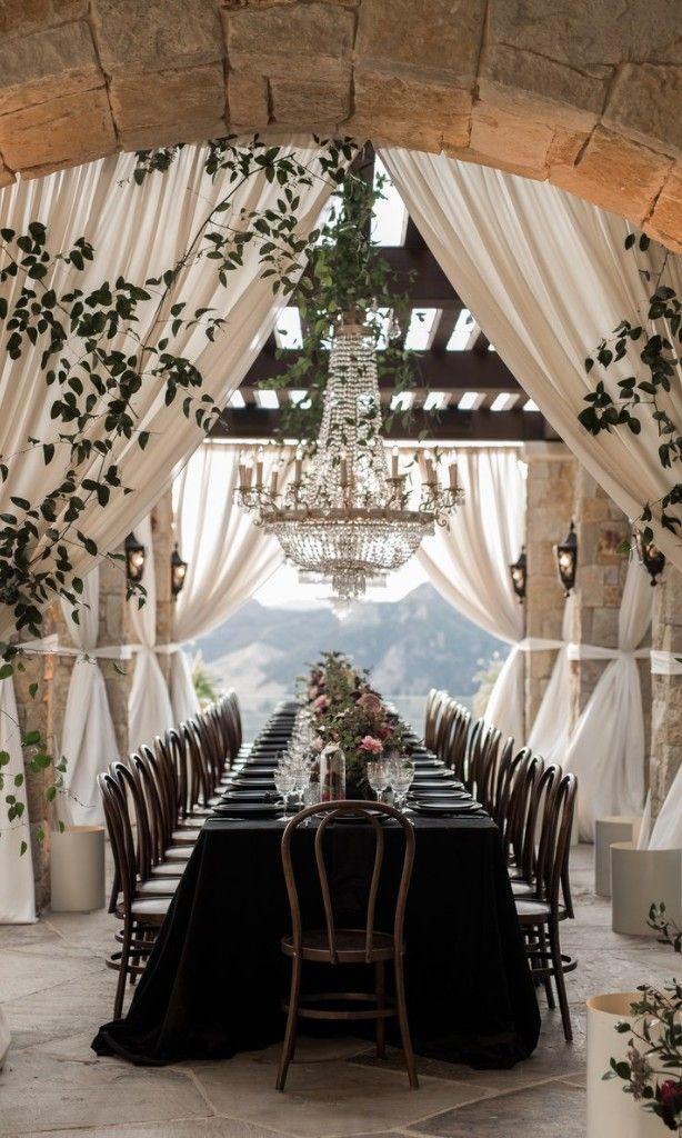 A Moody Romantic Malibu Affair Wedding Reception Style Dcor