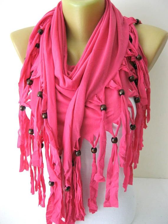 Pink Scarf Cotton Scarf-Shawls-Scarves-gift Ideas For Her