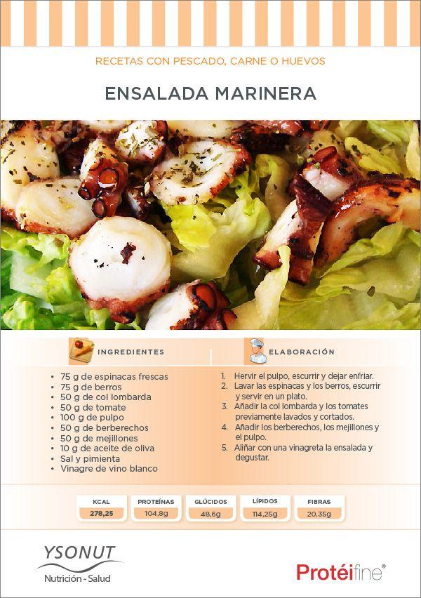 Con este calor, te acercamos el #mar a casa con esta #ensalada bien fresquita ;)) #receta #nutricion #salud