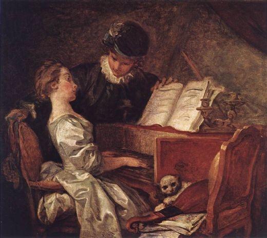 lección de música,1770, Fragonard