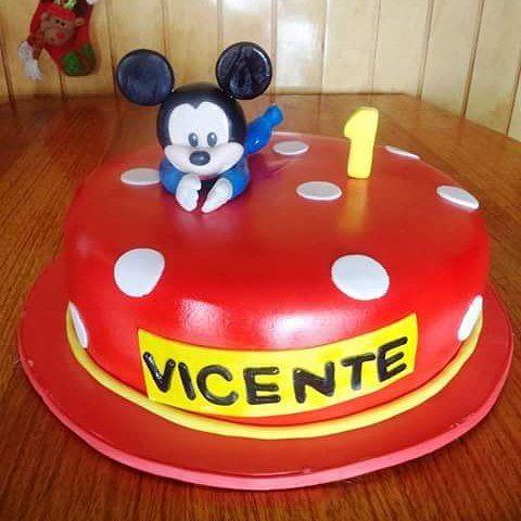 #BabyMickey #fondant #cake by Volován Productos  #Disney #instacake #Chile #puq #VolovanProductos #Cakes #Cakestagram