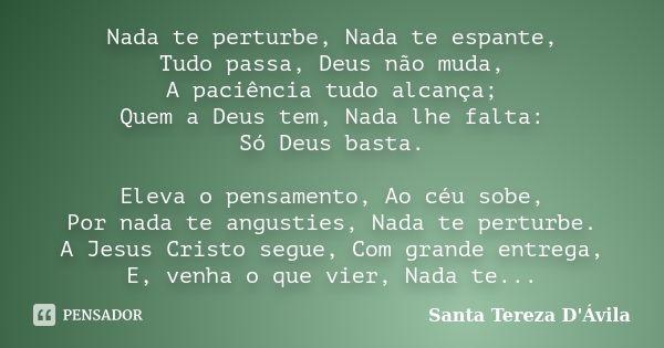Santa Tereza D Avila Santa Tereza De Avila Pensamentos E Jesus E