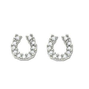 I love these delicate little earrings. Lots of sparkle.: Diamonds Earrings, I J Colors, 14K White, Diamonds Horseshoes, Delicate, Earrings 1 10, Horseshoes Earrings, Sparkle, White Gold Diamonds