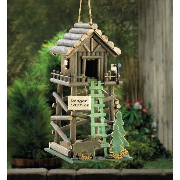 #Park #Ranger Station House #Eucalyptus Wood Birdhouse are selling out fast! http://lifeinlots.com/park-ranger-station-house-eucalyptus-wood-birdhouse/  #birdhouses
