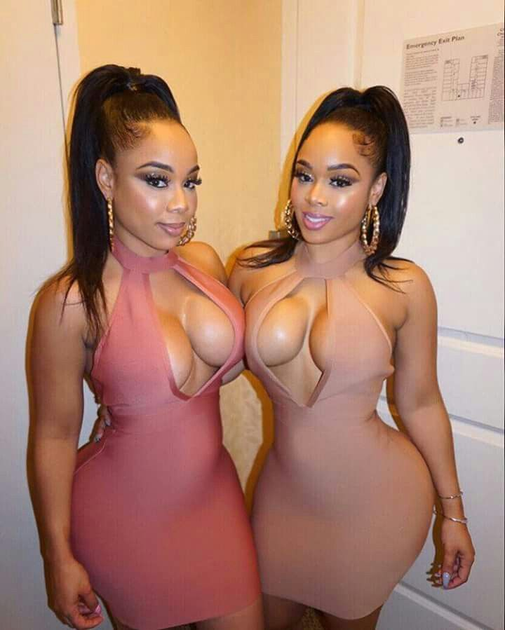 Beautiful ebony twins and one very lucky white guy 2
