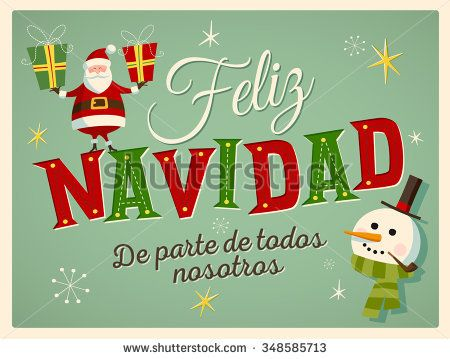 Christmas Cards In Spanish Greetings