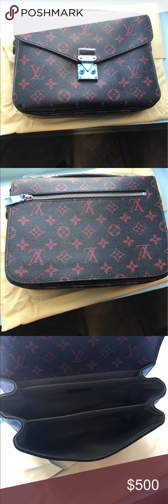 Louis Vuitton Infrarouge Pouchette Metis Gorgeous Infrarouge red and black Louis. No proof of purchase. Louis Vuitton Bags Crossbody Bags