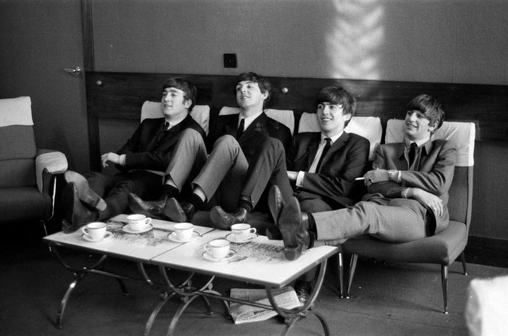 The Beatles rehearse at The Prince of Wales Theatre in London for The Royal Variety Command Performance due to take place the next day, 5th November 1963. Picture taken 4th November 1963