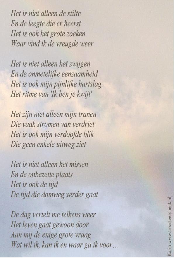 Gedicht Het is niet alleen de stilte