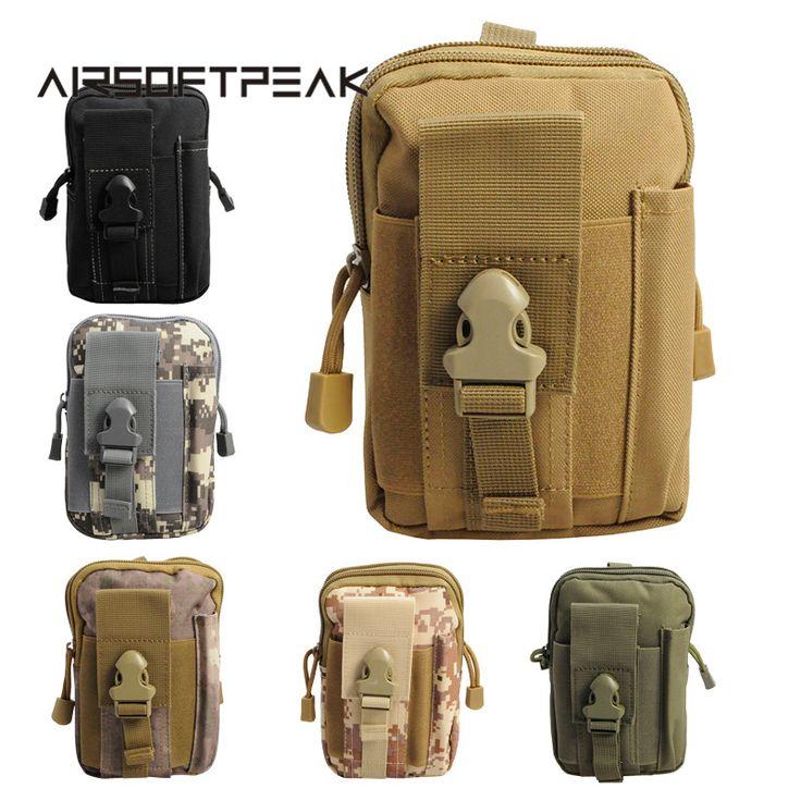 Airsoftpeak tactical molle pouch bolsa de cinturón militar fanny pack de bolsas de caja del teléfono bolsas de bolsillo para el iphone 7 caza al aire libre