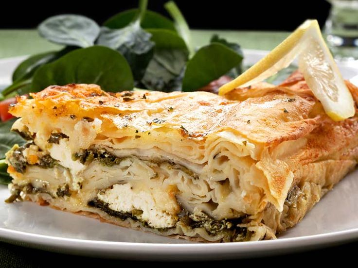 Vegetarisch:+Spinat+und+Feta+im+Blätterteigmantel